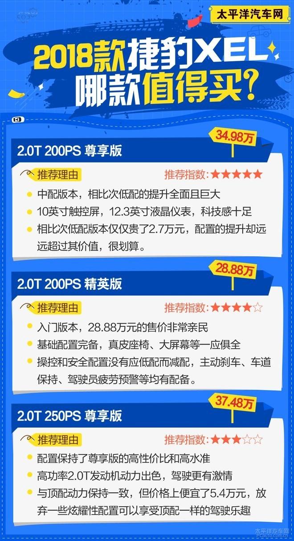 捷豹XEL哪款值得买? 推荐