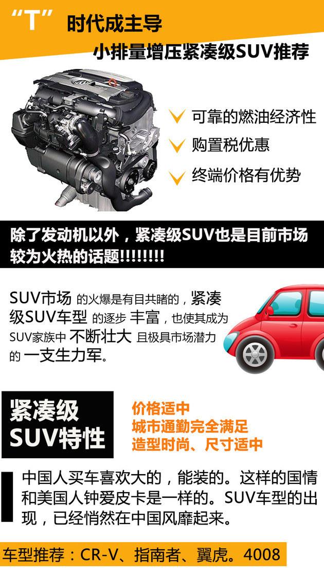 T时代成主导 四款小排量增压紧凑级SUV