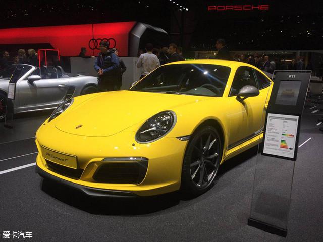 日内瓦车展:保时捷911 Carrera T亮相