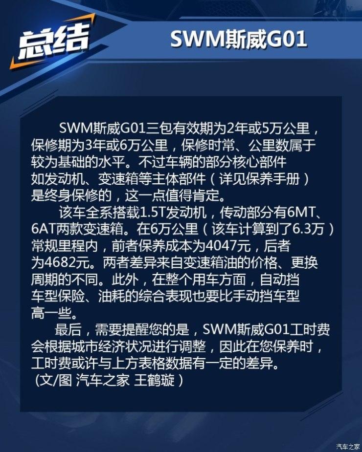 SWM斯威汽车 SWM斯威G01 2018款 1.5T 自动智up