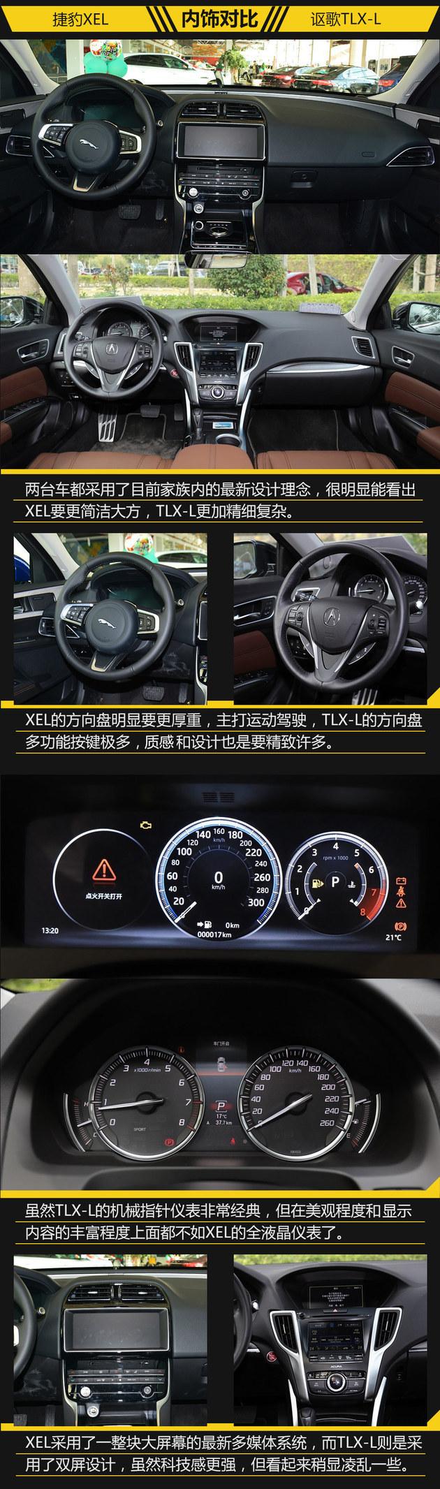 运动与精致的较量 捷豹XEL对讴歌TLX-L