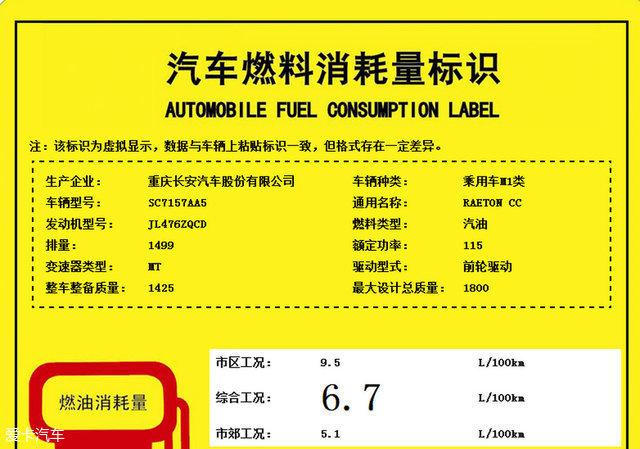长安睿骋CC动力信息曝光 将于年底上市