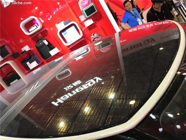 汉能大阳能汽车亮相CES 百公里加速9.5s