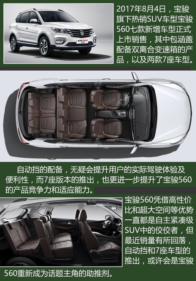 宝骏560自动挡上市 4款自主紧凑SUV推荐